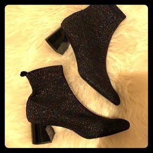 Zara Trafaluc sparkling sock booties